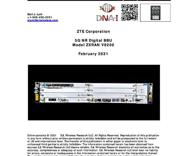 EJL Wireless Research Analyzes ZTE 5G NR gNodeB